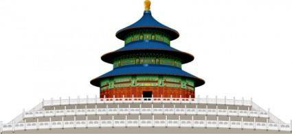 free vector Temple of heaven cdr vector