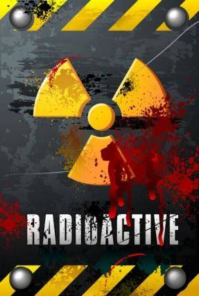 free vector Nuclear warning signs 02 vector