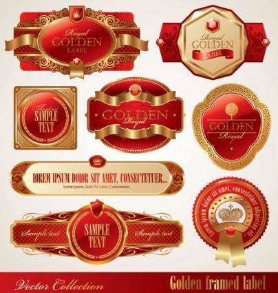 free vector Beautiful gorgeous bottle label affixed 01 vector