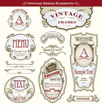 Beautiful gorgeous bottle label affixed 03 vector