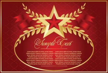 Fivepointed star theme vector 1