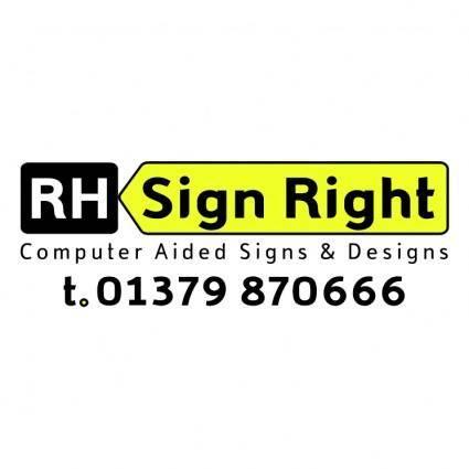 free vector Rh sign right