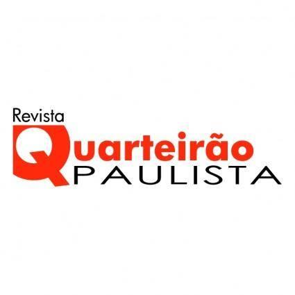 free vector Revista quarteirao paulista