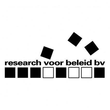 Research voor beleid bv