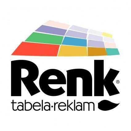 free vector Renk tabela reklam