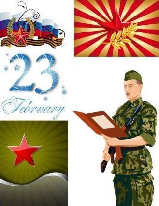 free vector Fivepointed star and the military vector