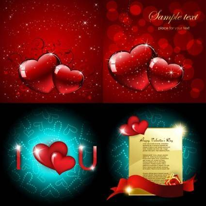 free vector Bright love vector