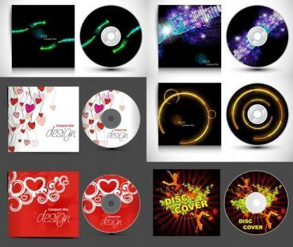 free vector Cd and gorgeous packaging vector