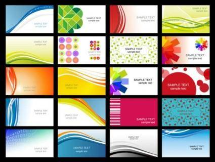 free vector Variety of dynamic flow line of business card templates 02 vector