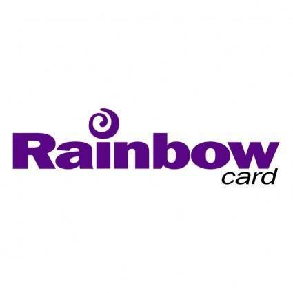free vector Rainbow card