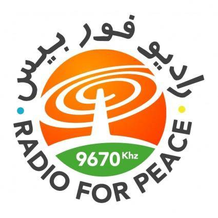 free vector Radio for peace
