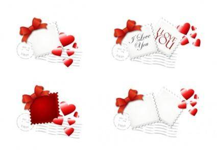 free vector Love stamp vector