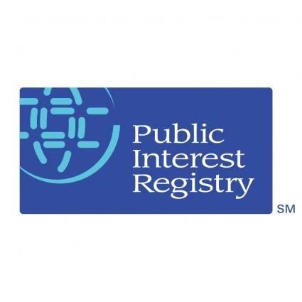 free vector Public interest registry