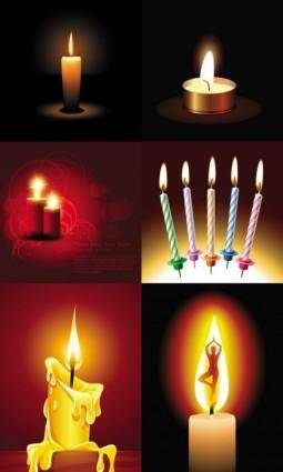 free vector Beautiful romantic candlelight vector
