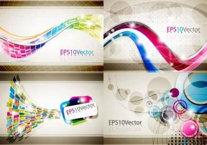 free vector Brilliant dynamic flow line vector