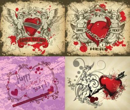 Angels and love vector