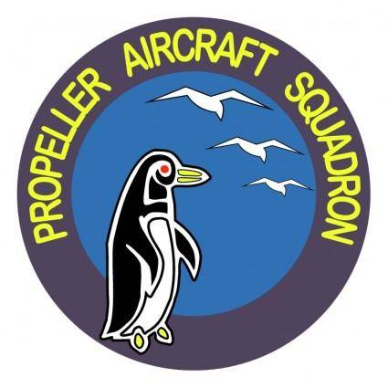 free vector Propeller aircraft squadron