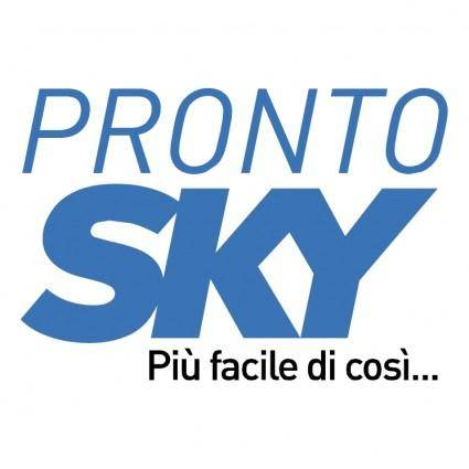 Pronto sky