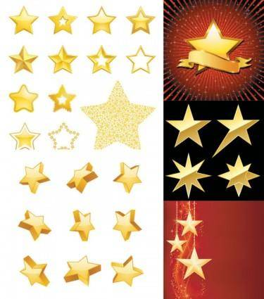 free vector Star theme vector