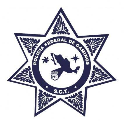 free vector Policia federal de caminos mexico