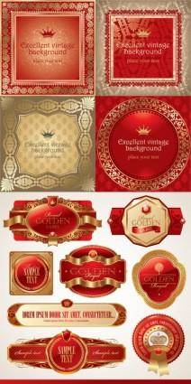 free vector Europeanstyle bottle of red label vector