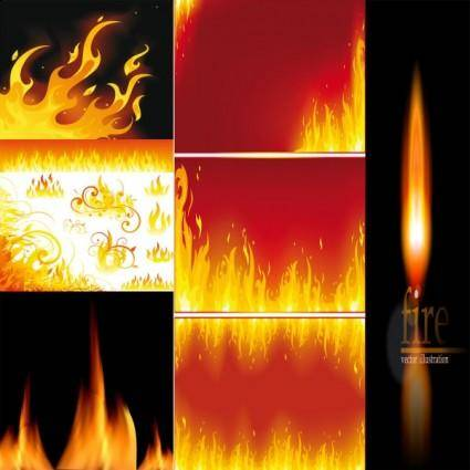 free vector Beautiful flame vector