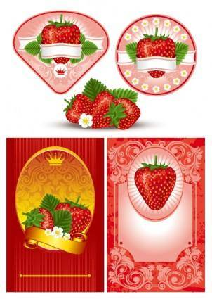 Strawberry theme vector