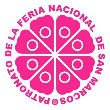 free vector Patronato de la feria nacional de san marcos