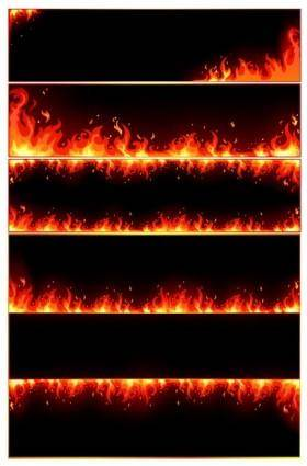 free vector Burning flame frame vector