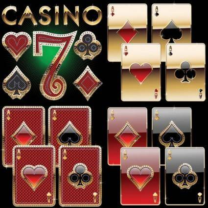 free vector Luxury poker clip art