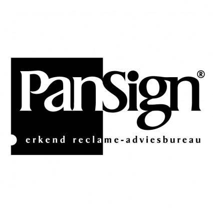 free vector Pansign reclame