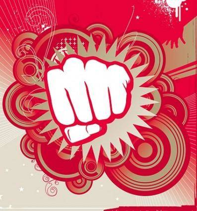 free vector Impact of fist super vector