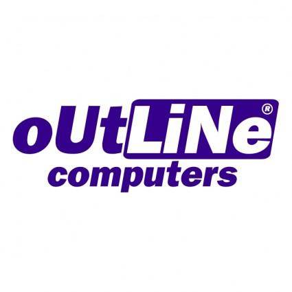 free vector Outline computers