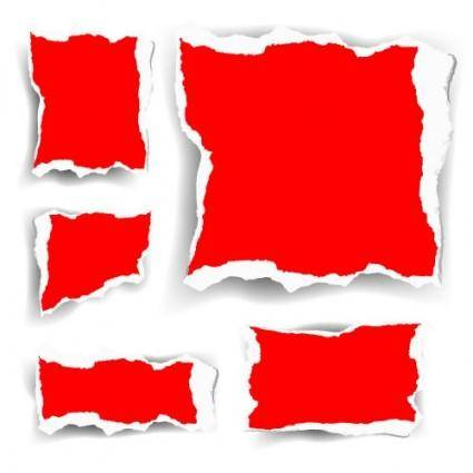 free vector Vector red shredded paper