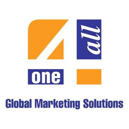free vector One 4 all global marketing solutions