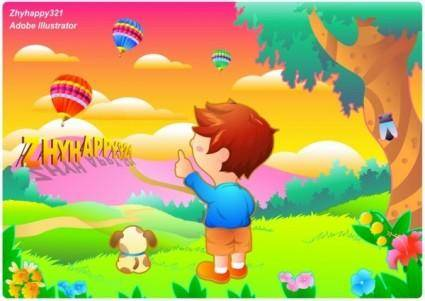 Children color vector