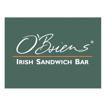 free vector Obriens irish sandwich bar 0