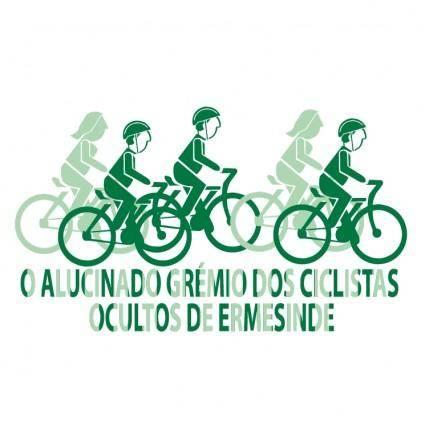 free vector O alucinado gremio dos ciclistas