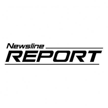 free vector Newsline repor
