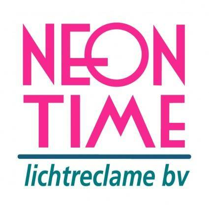 free vector Neon time