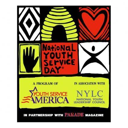 free vector National youth service day