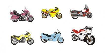 6 models vector motorcycle