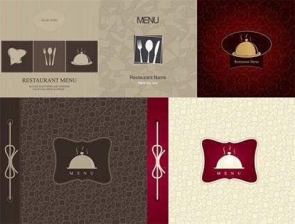 free vector Restaurant menu cover vector