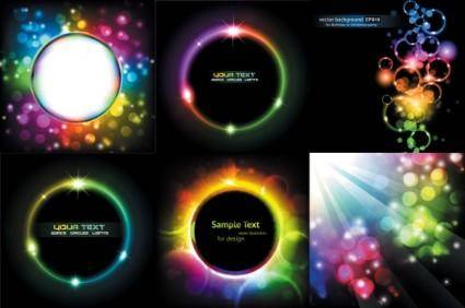 free vector Symphony of light vector dream