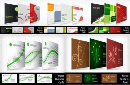 Threedimensional renderings show business card vector