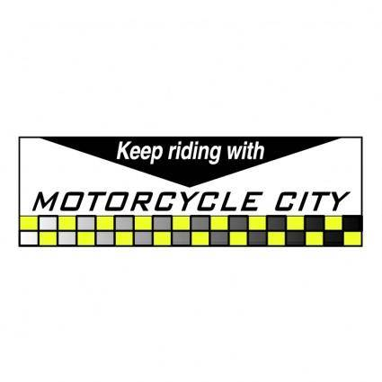 free vector Motor cycle city