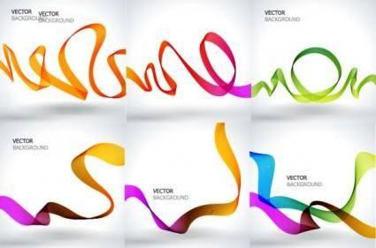 free vector Dynamic symphony ribbon vector