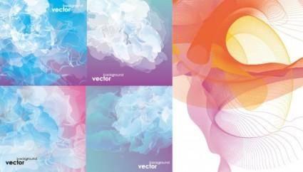 free vector Cool smoke vector