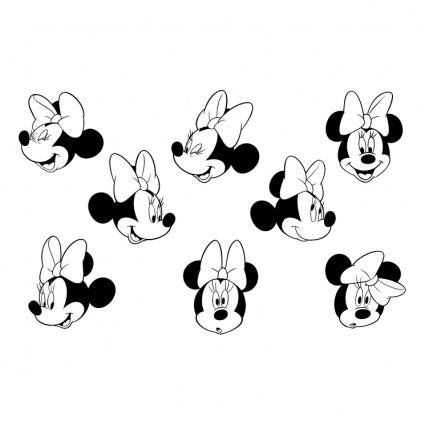free vector Minnie mouse 1