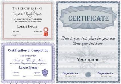 free vector Certificates vector